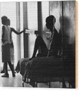Corridor Of Haitian Hospital Wood Print