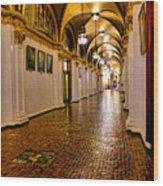 Corridor Of Power In Harrisburg Wood Print