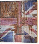Corrugated Iron United Kingdom Flag Wood Print