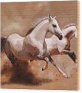 Corsa Di Cavalli Wood Print