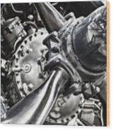 Corsair F4u Engine Wood Print