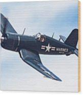 Corsair In Flight Wood Print