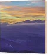 Corsican Sunset Wood Print