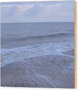 Corton Beach Dawn Ocean Waves 1 Wood Print