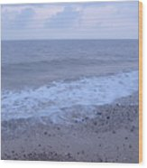 Corton Beach Dawn Ocean Waves 3 Wood Print