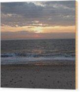 Corton Beach Emerging Ocean Sun 1 Wood Print