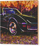 Corvette Beauty Wood Print