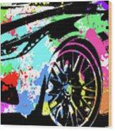 Corvette Pop Art 3 Wood Print