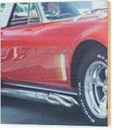 Corvette Soft Top Wood Print