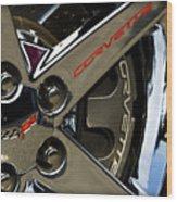 Corvette Spokes II Wood Print by Ricky Barnard