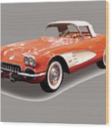 Corvette Tshirt Wood Print