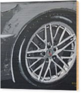 Corvette Wheel Wood Print