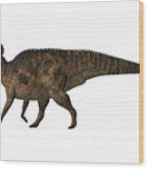 Corythosaurus On White Wood Print