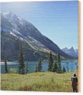Cosley Ridge Over Cosley Lake - Glacier National Park Wood Print