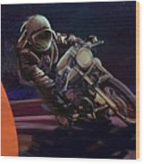 Cosmic Cafe Racer Wood Print