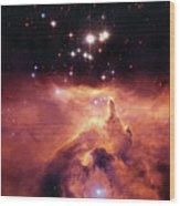 Cosmic Cave Wood Print