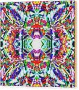 Cosmic Clam Wood Print