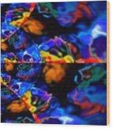 Cosmic Colors Wood Print