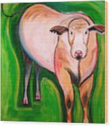 Cosmic Cow Wood Print