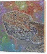 Cosmic Dragon Wood Print