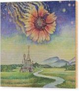 Cosmic Flower Wood Print