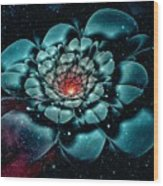Cosmic Flower Wood Print