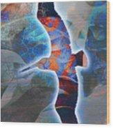Cosmic Flyer Wood Print