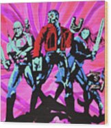 Cosmic Guardians Of The Galaxy 2 Wood Print