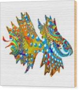 Cosmic Guppy Wood Print