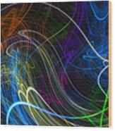 Cosmic Haywires Wood Print