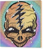 Cosmic Head Wood Print