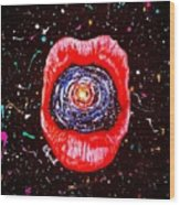 Cosmic Lips 2 Wood Print