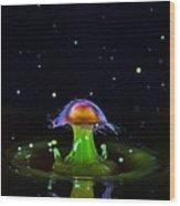 Cosmic Mushroom Wood Print