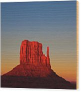 Cosmic Sunset At Monument Valley Wood Print
