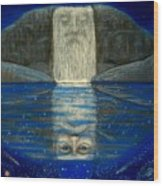 Cosmic Wizard Reflection Wood Print
