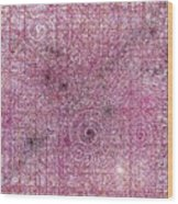 Cosmos Against Pink Mottled Glass 7-22-2015 #1 Wood Print