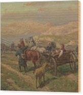 Cossak Convoy Wood Print