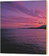 Costa Del Sol Sunset In Marbella Wood Print