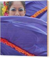 Costa Maya Dancer II Wood Print