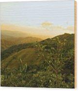 Costa Rica Rolling Hills 2 Wood Print