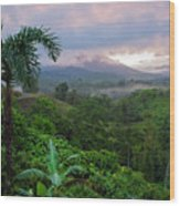 Costa Rica Volcano View Wood Print