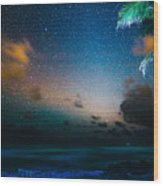 Costa Rican Starscape Wood Print