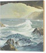 Costal Cave Wood Print