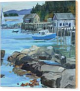Costal Maine Wood Print