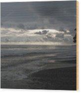 Costal Sunset Wood Print