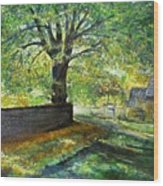 Cotswold Lane  Wood Print