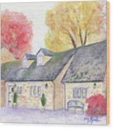 Cotswolds Cottage Wood Print