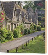 Cotswolds Homes Wood Print