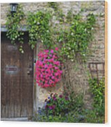 Cotswolds Milk Delivery Wood Print