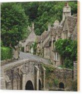 Cotswolds Village Castle Combe Wood Print